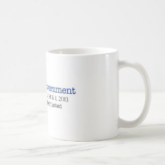 end of government classic white coffee mug
