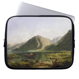 End of Lake Geneva, 1835 (oil on canvas) Computer Sleeve