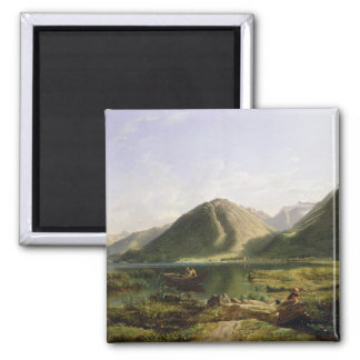 End of Lake Geneva, 1835 (oil on canvas) Magnet