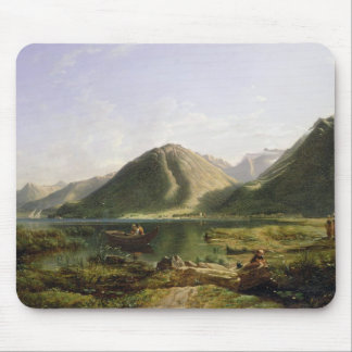 End of Lake Geneva, 1835 (oil on canvas) Mouse Pad