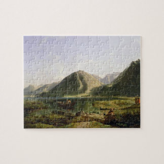 End of Lake Geneva, 1835 (oil on canvas) Jigsaw Puzzles