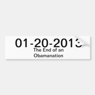 end of obama bumper sticker