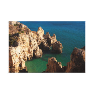 End of Piedade in Lagos, Algarve Canvas Print