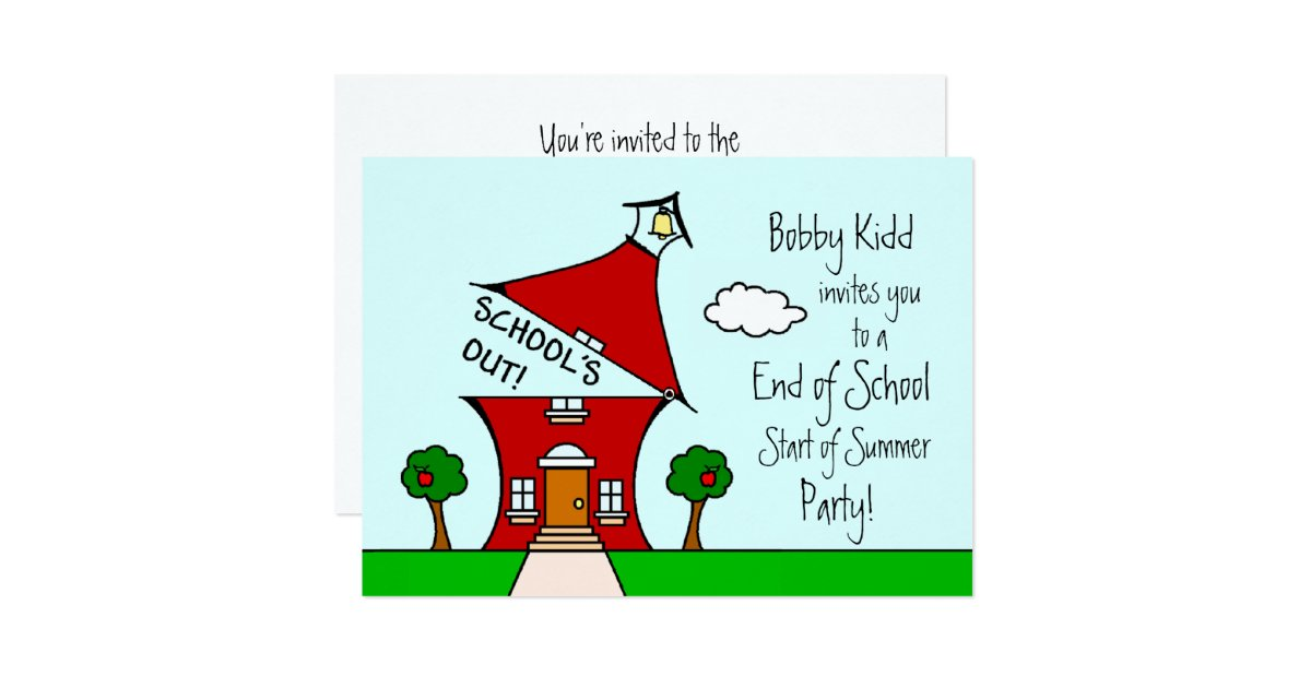 End of School Start of Summer Party Invite – Summer Party Invite