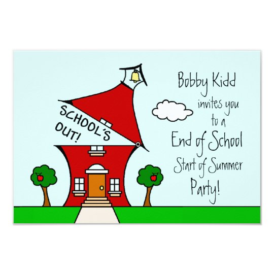 End of School Start of Summer Party Invite – End of Summer Party Invitations