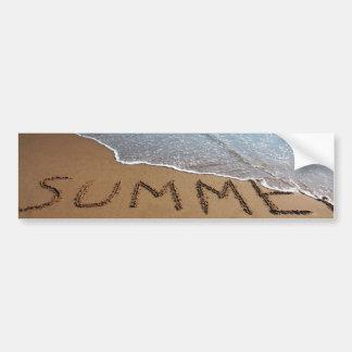 End Of Summer At California Coast Bumper Sticker