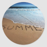 End Of Summer At California Coast Classic Round Sticker