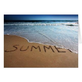 End Of Summer At Calilfornia Coast Card