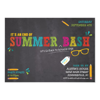 End of Summer / Back to School Bash Card