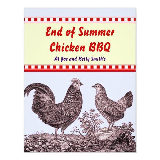End of Summer Chicken BBQ Invitation Card