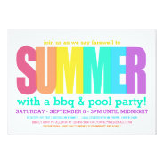 End of Summer Party 5x7 Paper Invitation Card at Zazzle