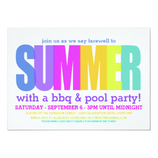 end of summer invitations zazzle