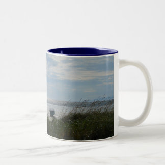 End Of Summer Two-Tone Coffee Mug