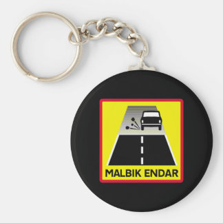 End Of Tarred Road, Traffic Sign, Iceland Keychains