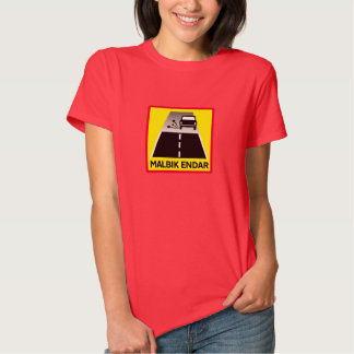 End Of Tarred Road, Traffic Sign, Iceland T-shirt