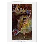 End Of The Arabesque By Edgar Degas Card