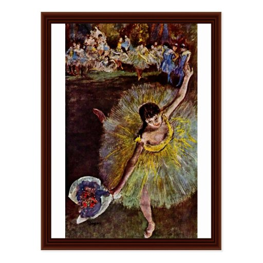 End Of The Arabesque By Edgar Degas Post Cards