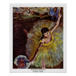 End Of The Arabesque By Edgar Degas Poster