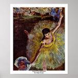 End Of The Arabesque By Edgar Degas Print