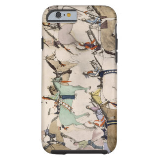 End of the battle (ink on paper) iPhone 6 case