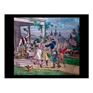 End of the Civil War Vintage Magic Lantern Slide Postcard