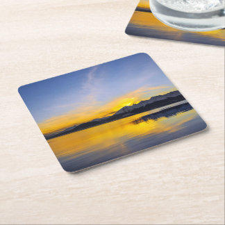 End of the Day in Tierra Del Fuego Square Paper Coaster