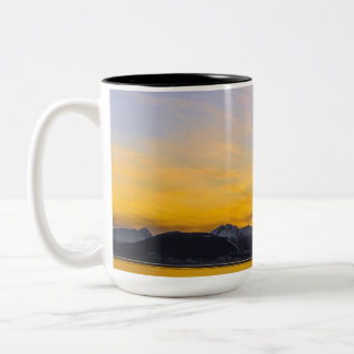 End of the Day in Tierra Del Fuego Two-Tone Coffee Mug