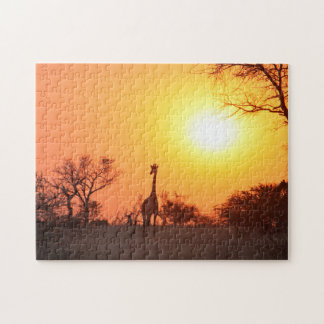 End of the day on the African Plains. Jigsaw Puzzle