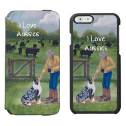 Incipio Watson™ iPhone 6 Wallet Case with Australian Cattle Dog Phone Cases design