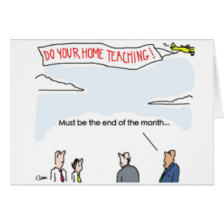 End of the month greeting card