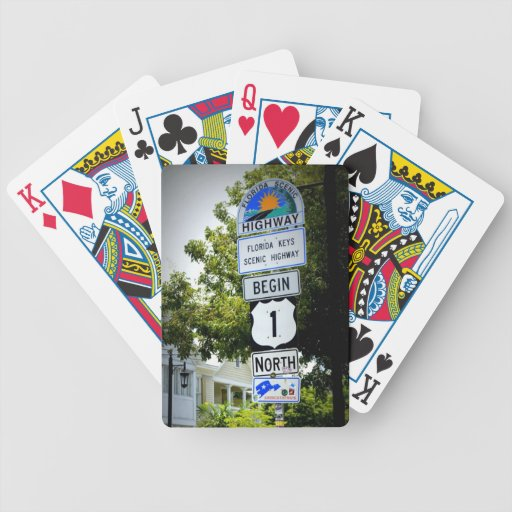 End of the Road Bicycle Playing Cards