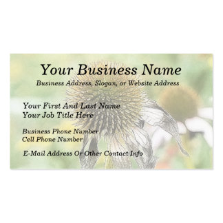 End Of The Season - Coneflower Double-Sided Standard Business Cards (Pack Of 100)