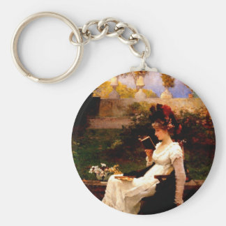 End of the Story Basic Round Button Keychain
