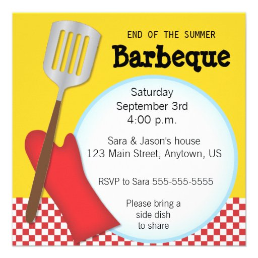 End of the summer barbeque invitation from zazzle com