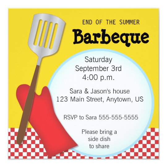 End Of The Summer Barbeque Invitation