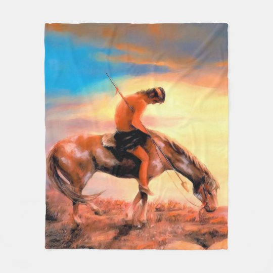 End of the Trail Fleece Blankets