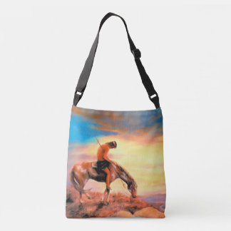 End of the Trail Native American Cross Body Bag