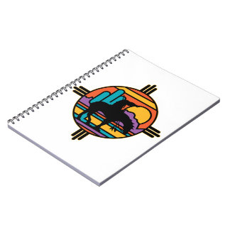 End of the Trail Native American Indian Spiral Notebooks
