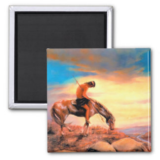 End of the Trail Square Magnet
