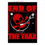 END OF THE TRAX GREETING CARD