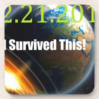 end of the world 2012 beverage coaster
