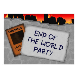 End of the World Apocalypse Party Invitation