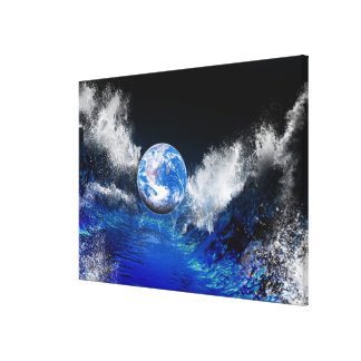 End of the World, conceptual computer artwork Canvas Print