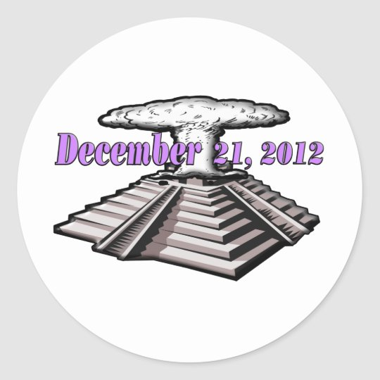 End Of The World  - December 21, 2012 Classic Round Sticker