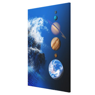 End of the World in 2012 conceptual computer Canvas Print