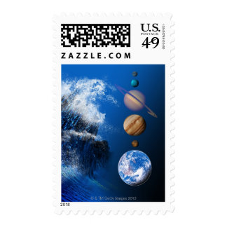 End of the World in 2012 conceptual computer Postage Stamps