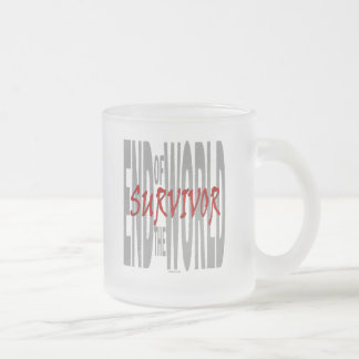 End of the World Survivor Frosted Glass Coffee Mug