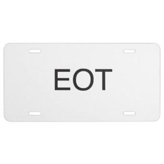 end of thread.ai license plate