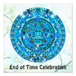End of Time December 21, 2012 Party Celebration 5.25x5.25 Square Paper Invitation Card