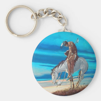 end of trail keychain